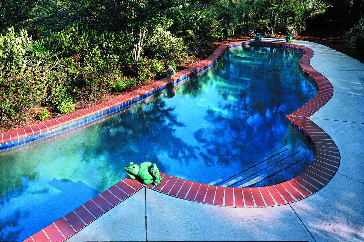 Pool Coping - 200 Plantation Red