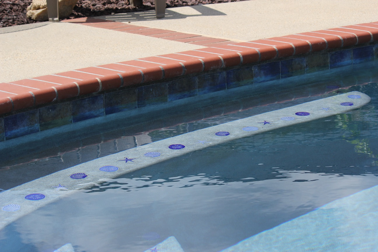 Pool Coping - 200 Plantation Red - Safety Grip